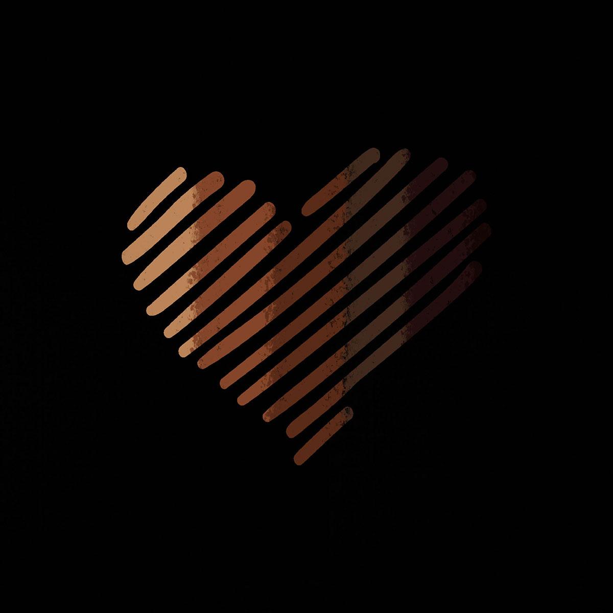 black lives matter skin color heart
